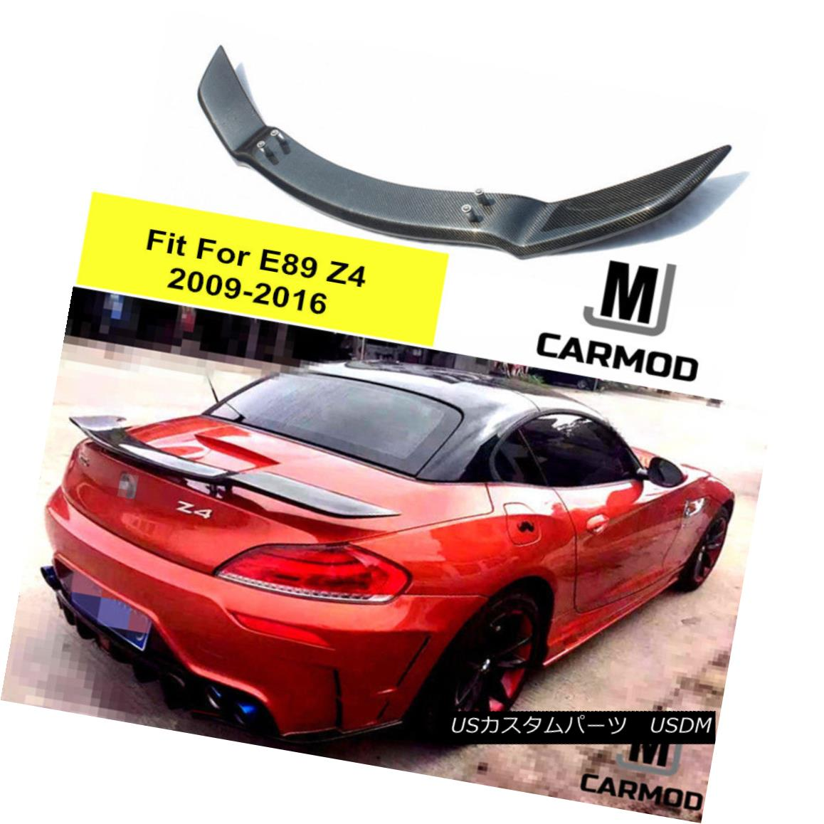 TOMMY 2009-2016 Z4 STYLE BMW ROWEN REAR E89 KAIRA エアロパーツ SPOILER 2009-2016 STYLE CARBON FOR FIBERリヤスポイラ TOMMY FIBER BMW Z4 ROWEN FIT CARBON E89 KAIRA