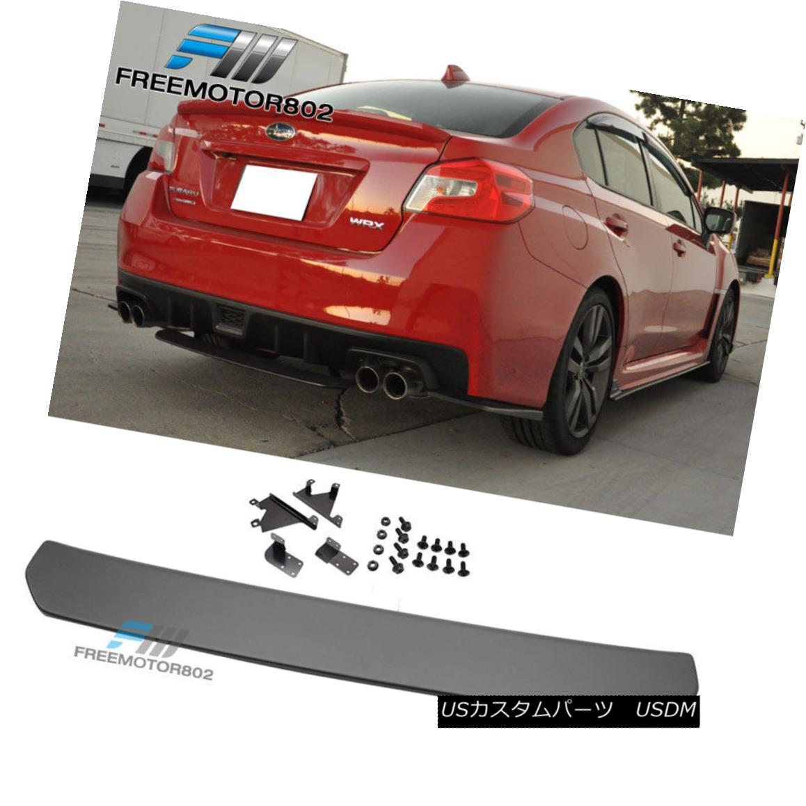 エアロパーツ Fits 15-18 Subaru WRX STI 4dr Rear Bumper Lip Splitter Diffuser ABS フィット15-18スバルWRX STI 4drリアバンパーリップスプリッタディフューザーABS