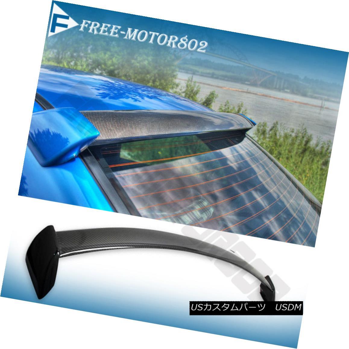エアロパーツ For 02-07 Subaru Impreza WRX STI Rear Roof Spoiler Wings Carbon Fiber FRP Sides 02-07スバルインプレッサWRX STIリアルーフスポイラーウイングカーボンファイバーFRPサイド