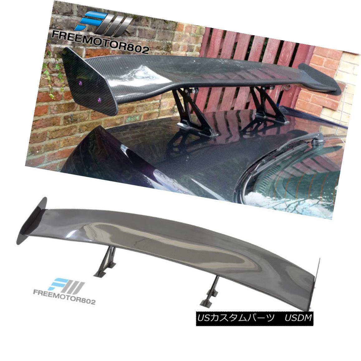 エアロパーツ 56 Inch Universal Fit 3D Carbon Fiber JDM GT Style Rear Trunk Spoiler Wing 56インチユニバーサルフィット3DカーボンファイバーJDM GTスタイルリアトランクスポイラーウィング
