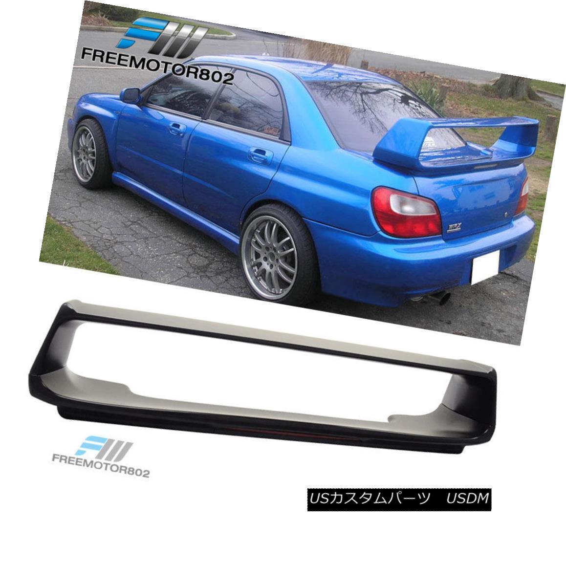 エアロパーツ Fit For 02-07 Subaru Impreza WRX STI ABS Trunk Spoiler Wing With 3RD Brake Light 02-07スバルインプレッサWRX STI ABSトランク・スポイラー・ウイング(3RDブレーキライト付)