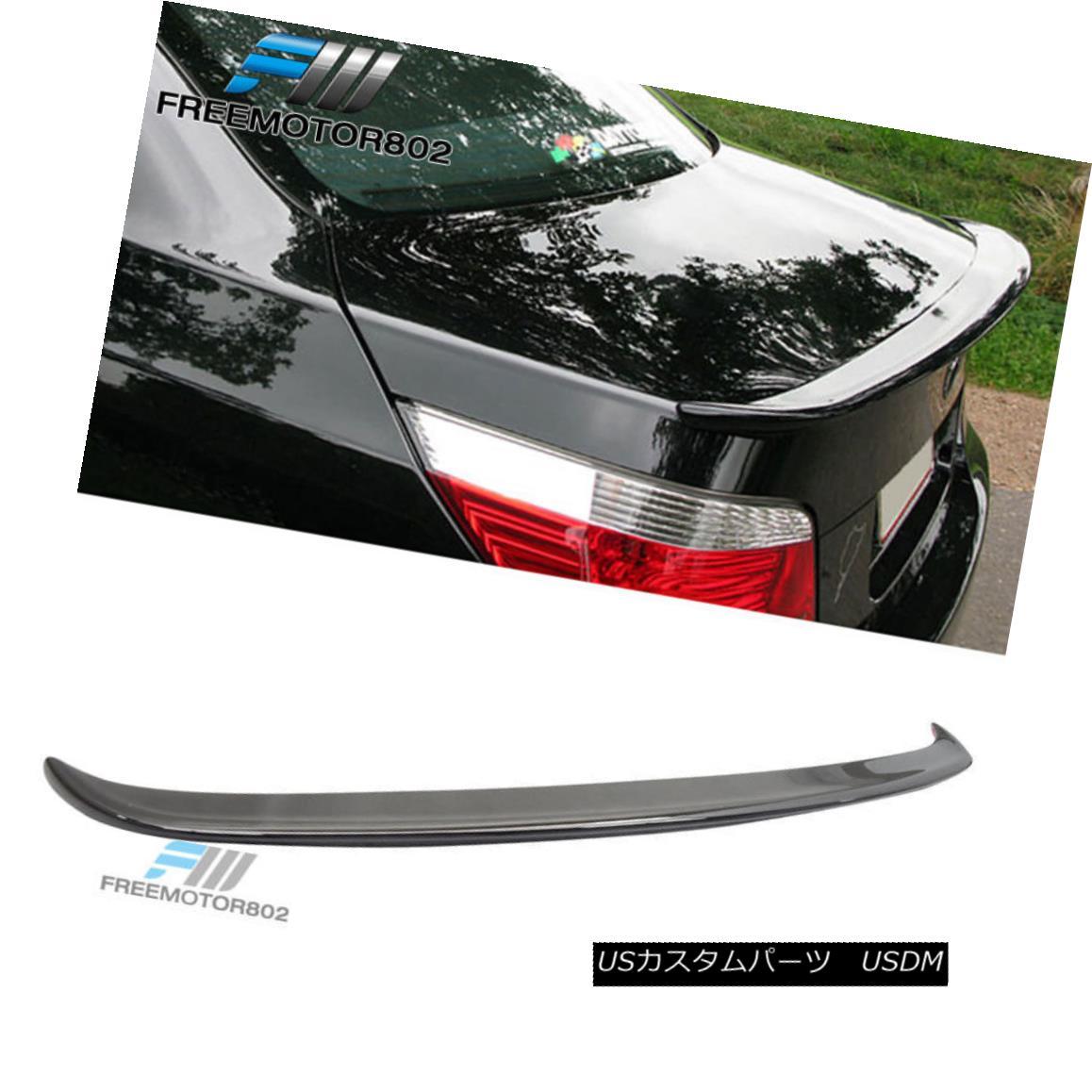 エアロパーツ For 04-10 BMW 5 Series E60 4DR AC Painted #668 Jet Black Trunk Spoiler Wing ABS 04-10 BMW 5シリーズE60 4DR AC塗装#668ジェットブラックトランクスポイラーウィングABS