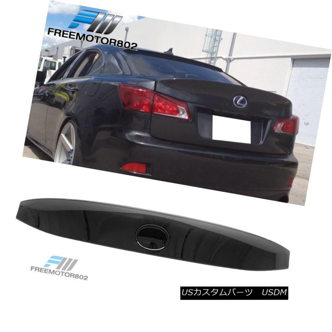 エアロパーツ For 06-13 Lexus IS250 IS350 IK Style Trunk Spoiler Wing Painted Black Onyx #202 06-13レクサスIS250 IS350 IKスタイルトランク・スポイラー・ウィング・ペイント・ブラック・オニキス#202
