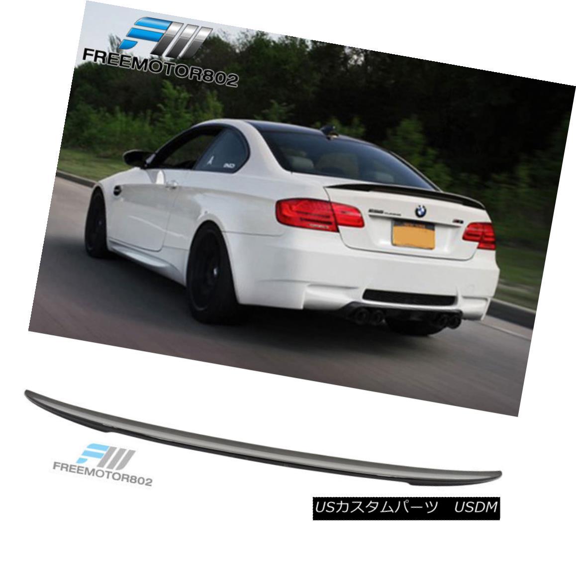 エアロパーツ Fit 07-13 BMW E92 Coupe 3-Series Rear Trunk Spoiler Painted Black Sapphire #475 フィット07-13 BMW E92クーペ3シリーズリアトランク・スポイラー・ブラック・サファイア#475