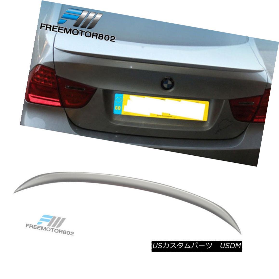 エアロパーツ Fit 06-11 BMW 3-Series E90 Trunk Spoiler Wing ABS Titanium Silver Painted # 354 フィット06-11 BMW 3シリーズE90トランクスポイラーウィングABSチタンシルバー塗装#354