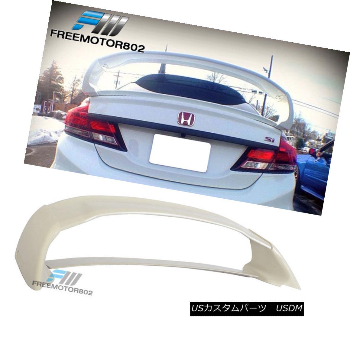 エアロパーツ For 12-15 Honda Civic 4door Sedan Mugen Style ABS Trunk Spoiler Wing 4Pc 12-15ホンダシビック4ドアセダンミュゲンスタイルABSトランクスポイラーウィング4Pc用