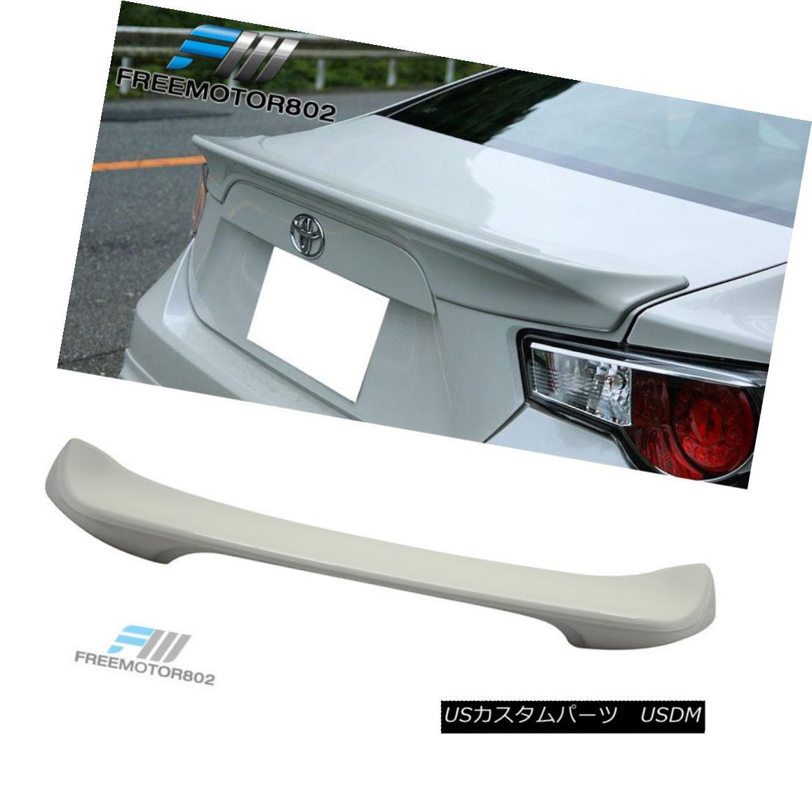 エアロパーツ Fit 13-16 Subaru BRZ Scion FRS Painted Trunk Spoiler Whiteout Satin White #37J フィット13-16スバルBRZサイオンFRS塗装トランクスポイラーホワイトアウトサテンホワイト#37J