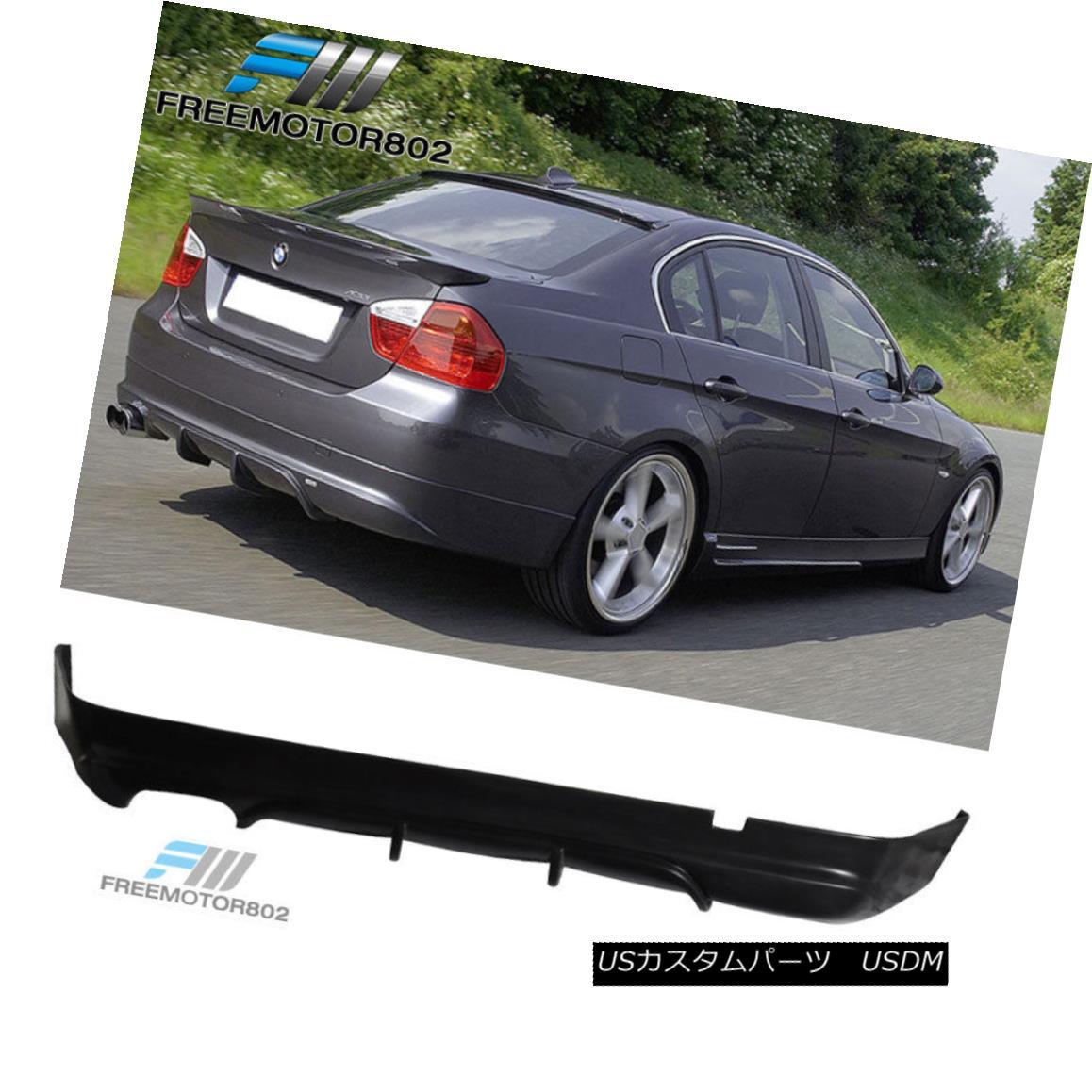 エアロパーツ For 05-12 BMW E90 3-Series Sedan Rear Bumper Lip Spoiler ACS Style Urethane 05-12 BMW E90 3シリーズセダンリアバンパーリップスポイラーACSスタイルウレタン