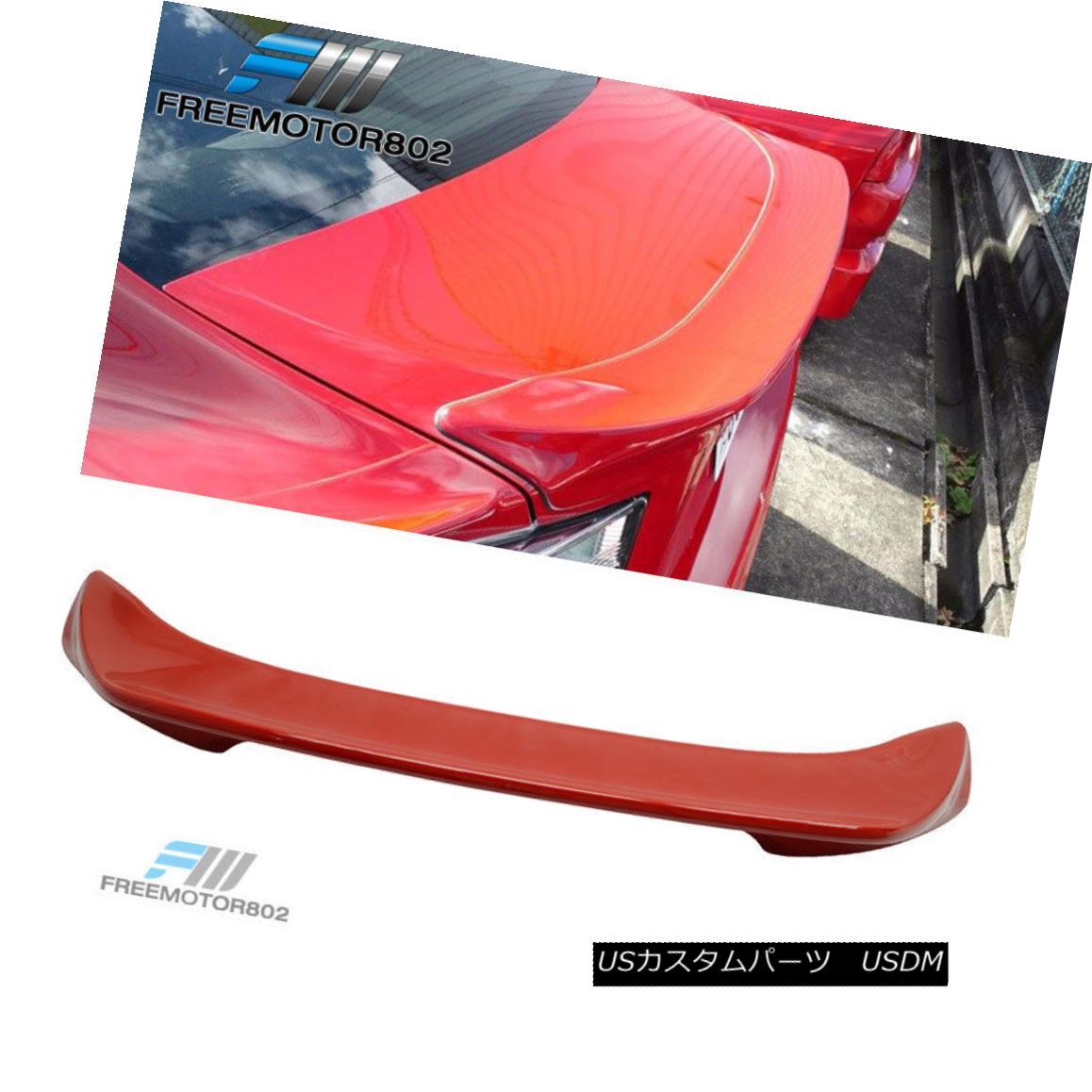 エアロパーツ Fit 13-15 Scion FRS Subaru BRZ TR Painted Trunk Spoiler Red Firestorm #C7P フィット13-15シオンFRSスバルBRZ TR塗装トランクスポイラーレッドファイアストーム#C7P