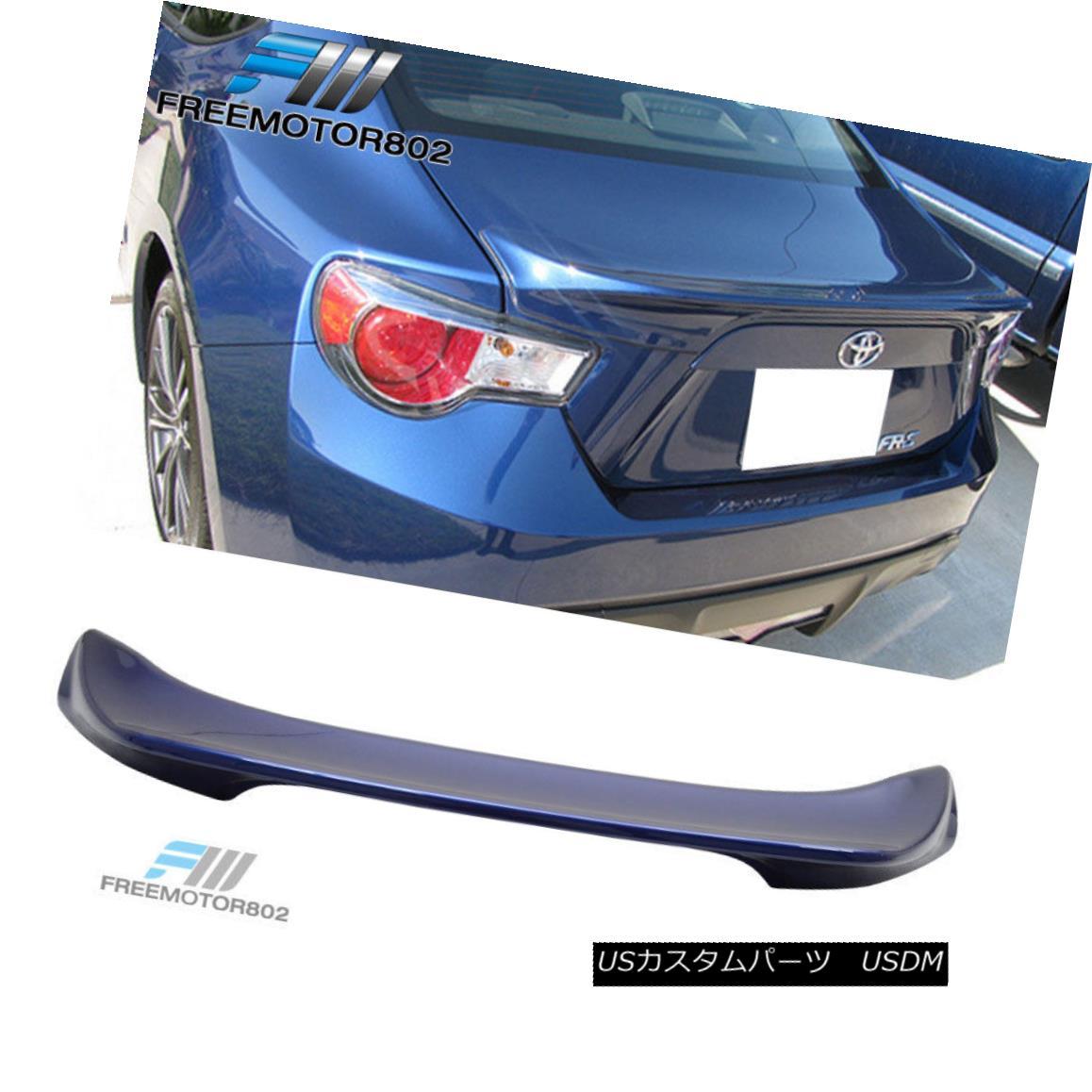エアロパーツ Fit 13-16 Scion FRS Subaru BRZ Paint Trunk Spoiler Galaxy Blue Ultramarine #E8H フィット13-16シオンFRSスバルBRZペイントトランクスポイラーギャラクシーブルーウルトラマリン#E8H