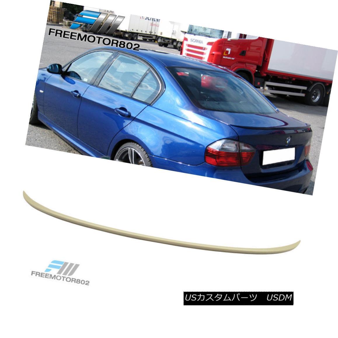 エアロパーツ Fit 06-11 BMW E90 325i 328i 335i 3-Series Sedan Rear Trunk Spoiler Wing ABS フィット06-11 BMW E90 325i 328i 335i 3シリーズセダンリアトランクスポイラーウィングABS