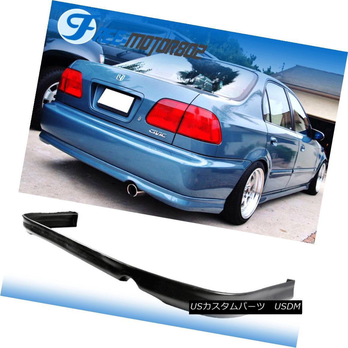 エアロパーツ For 96 97 98 Honda Civic 2DR 4DR Urethane Rear Bumper Lip Spoiler Bodykit PU 96 97 98ホンダシビック2DR 4DRウレタンリヤバンパーリップスポイラーボディキットPU