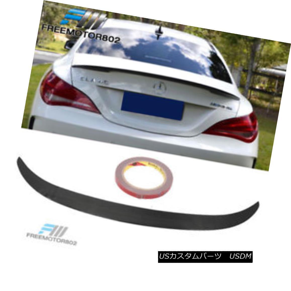 エアロパーツ Fit For 13-15 Benz CLA W117 4D Carbon Fiber Trunk Spoiler Wing ADH Style 13-15ベンツCLA W117 4DカーボンファイバートランクスポイラーウイングADHスタイル