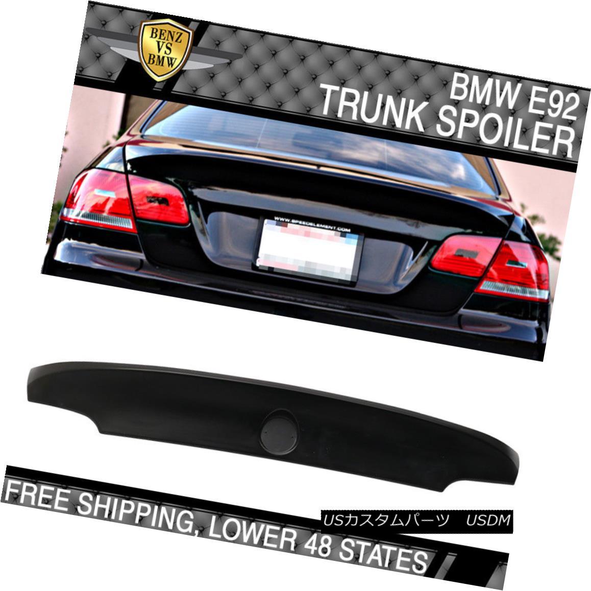 エアロパーツ 07-13 BMW 3-Series E92 M3 CSL Type Unpainted Trunk Spoiler - ABS 07-13 BMW 3シリーズE92 M3 CSLタイプ無塗装トランク・スポイラー - ABS