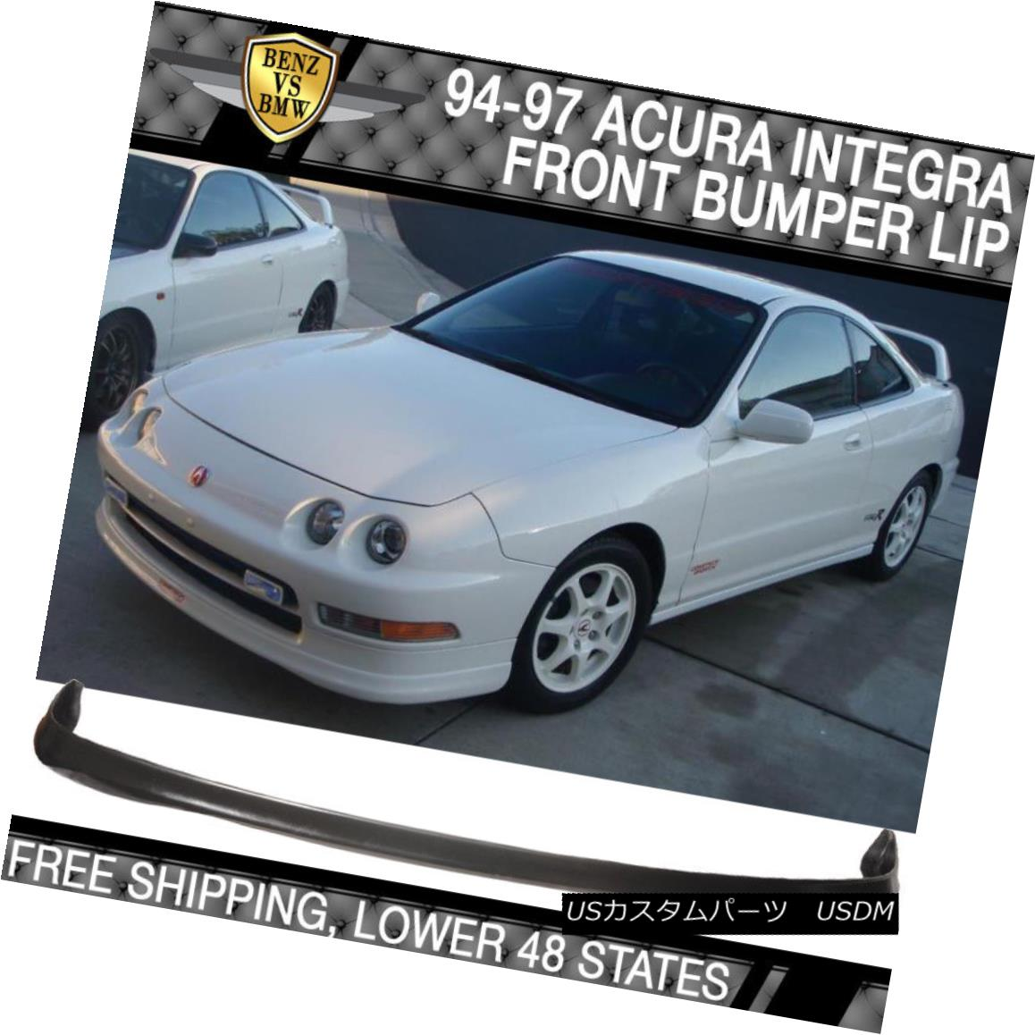 Fits 94-97 Acura Integra 4dr TR Style Front Bumper Lip Urethane