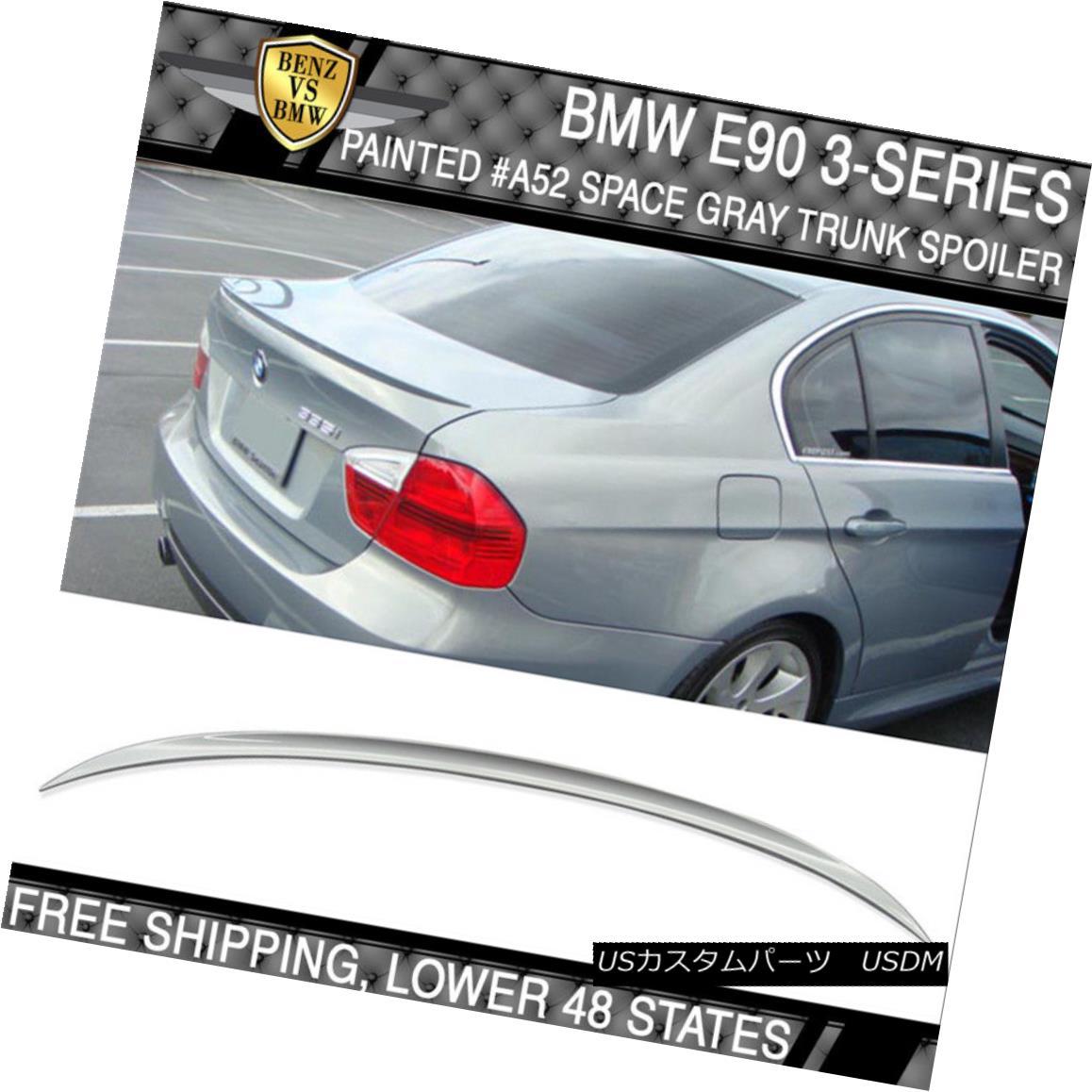 エアロパーツ 06-11 BMW 3 Series E90 M3 Style #A52 Space Gray Metallic Painted Trunk Spoiler 06-11 BMW 3シリーズE90 M3スタイル#A52スペースグレーメタリック塗装トランクスポイラー