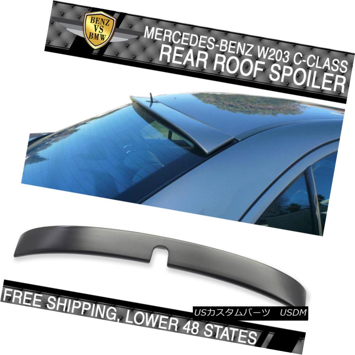 エアロパーツ 01-07 Benz C Class W203 4Dr L Style Unpainted ABS Roof Spoiler 01-07ベンツCクラスW203 4Dr Lスタイル無塗装ABSルーフスポイラー