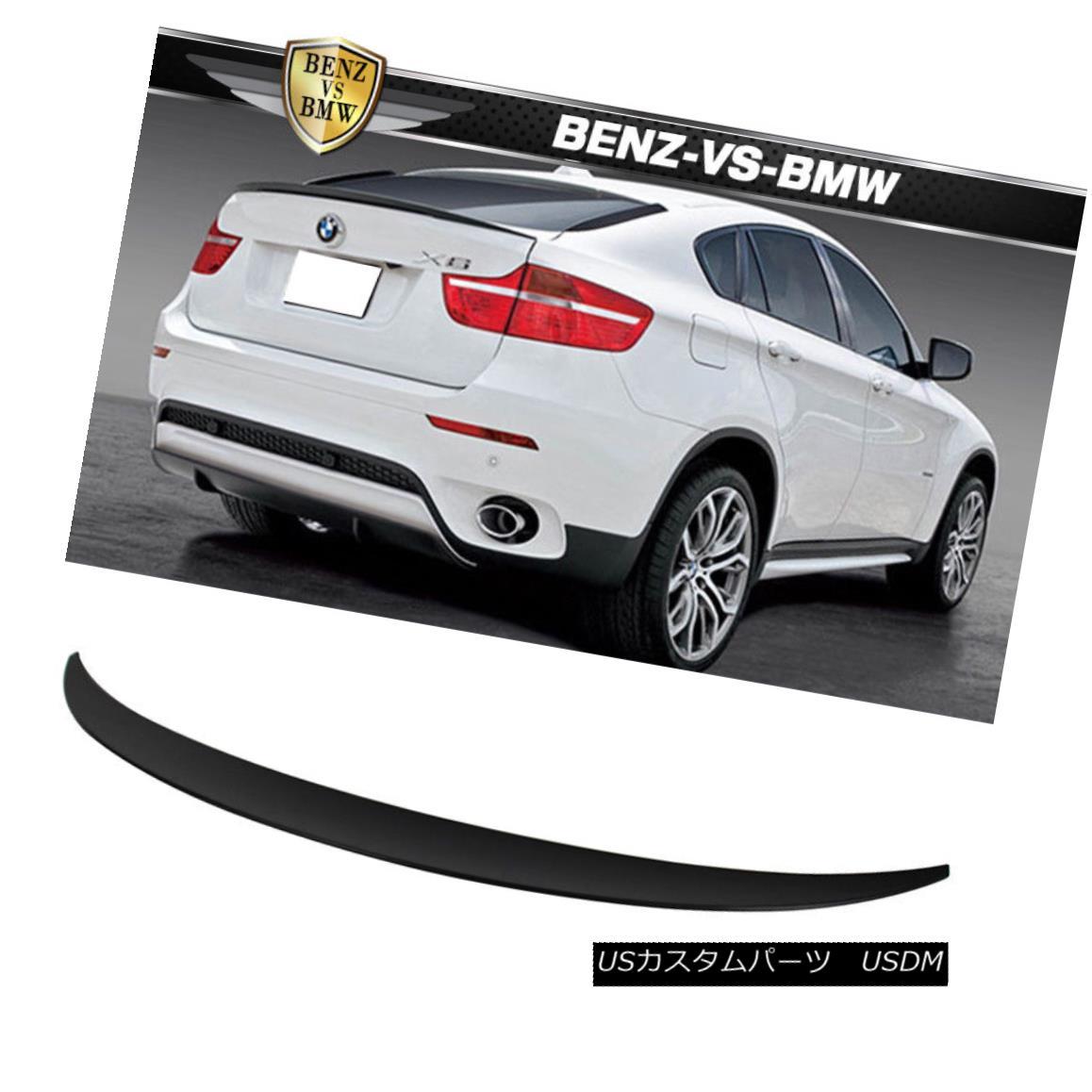 エアロパーツ 08-14 BMW X6 E71 SUV Hatchback P Style Unpainted ABS Trunk Spoiler 08-14 BMW X6 E71 SUVハッチバックPスタイル無塗装ABSトランク・スポイラー