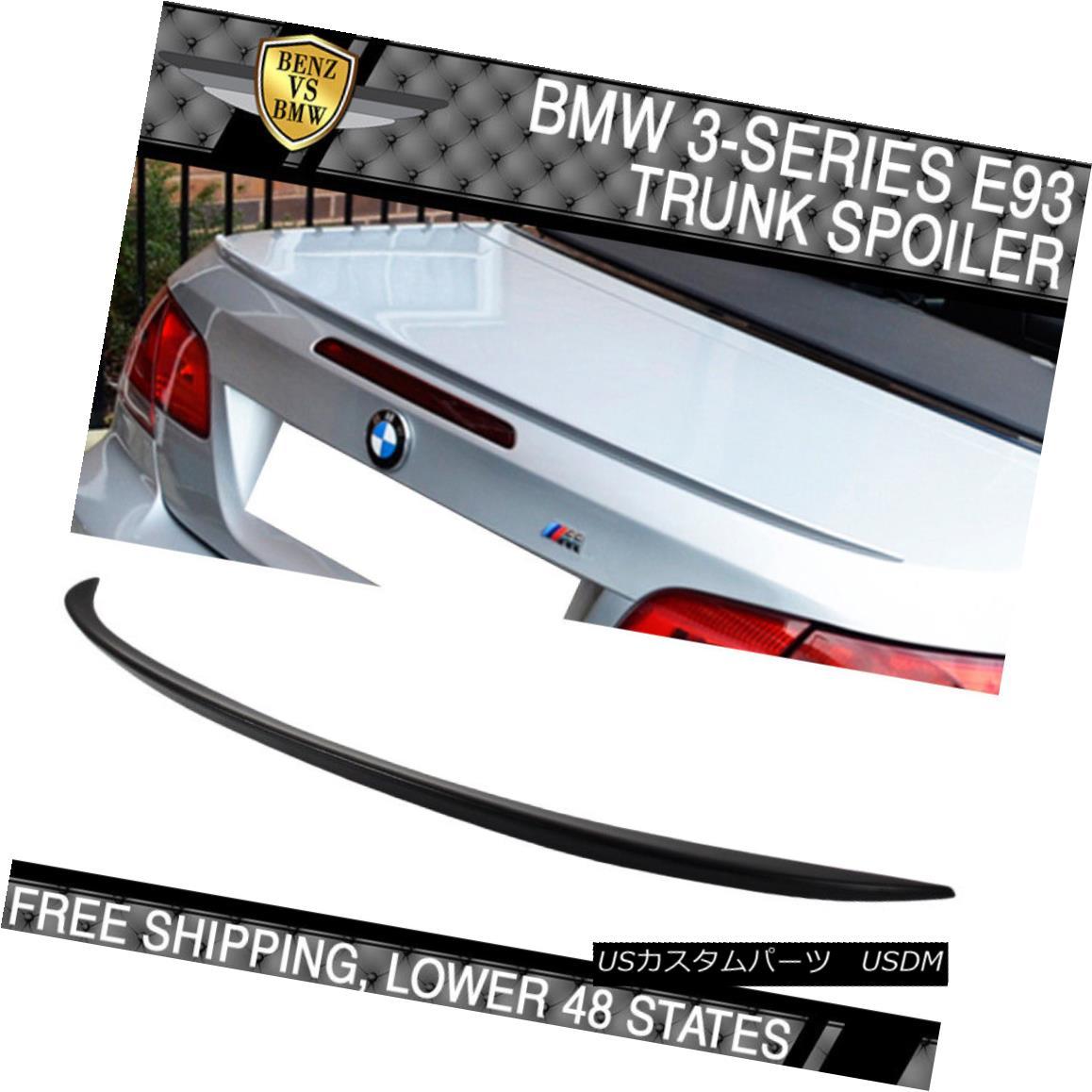 エアロパーツ 07-13 BMW 3 Series E93 2Dr Convertible M3 Style Unpainted ABS Trunk Spoiler 07-13 BMW 3シリーズE93 2DrコンバーチブルM3スタイル無塗装ABSトランク・スポイラー