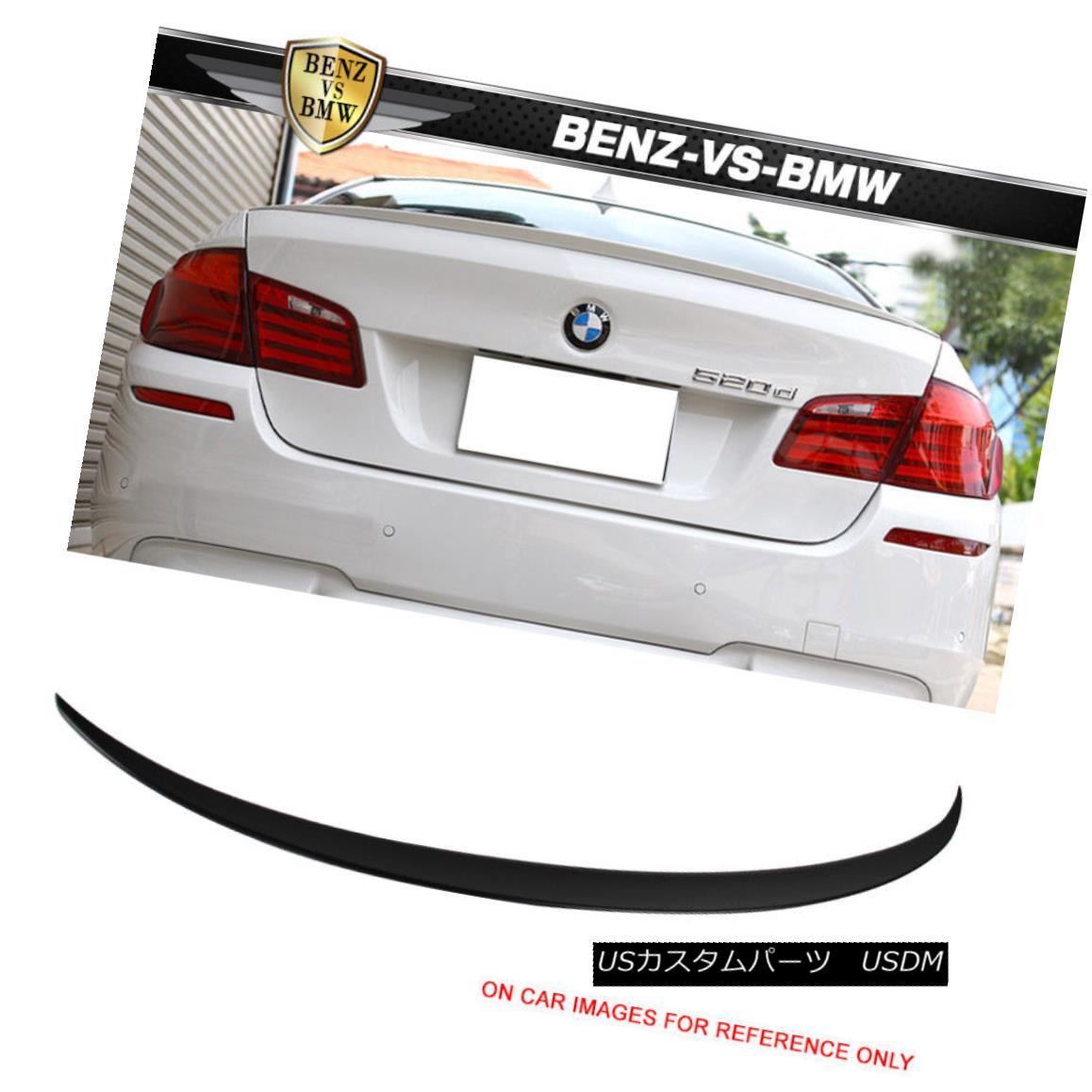 エアロパーツ 11-16 BMW 5 Series F10 4Dr Sedan M5 Style Unpainted ABS Trunk Spoiler 11-16 BMW 5シリーズF10 4DrセダンM5スタイル無塗装ABSトランク・スポイラー