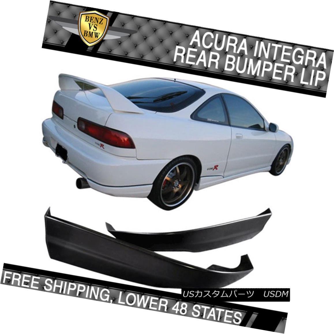 エアロパーツ Poly Urethane Rear Bumper Lip Spoiler Bodykit Fits 98-01 Acura Integra ポリウレタンリアバンパーリップスポイラーボディキットフィット98-01 Acura Integra