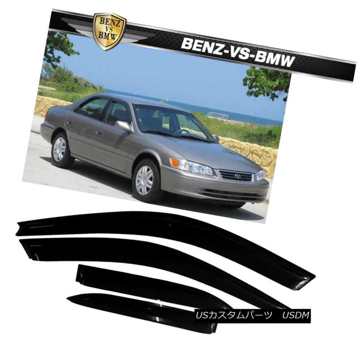 エアロパーツ Set Visors 97-01 4Pc Toyota Fits Window Sedan フィット97-01トヨタカムリセダンウィンドウバイザーズ4PCセット Camry