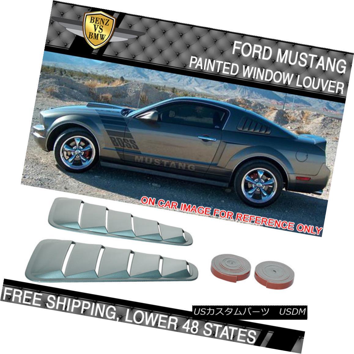エアロパーツ 05-09 Mustang V6 Painted # P3 Windveil Blue Metallic Window Louver - ABS 05-09マスタングV6塗装済み#P3ウィンドベイルブルーメタリックウインドウルーバー - ABS