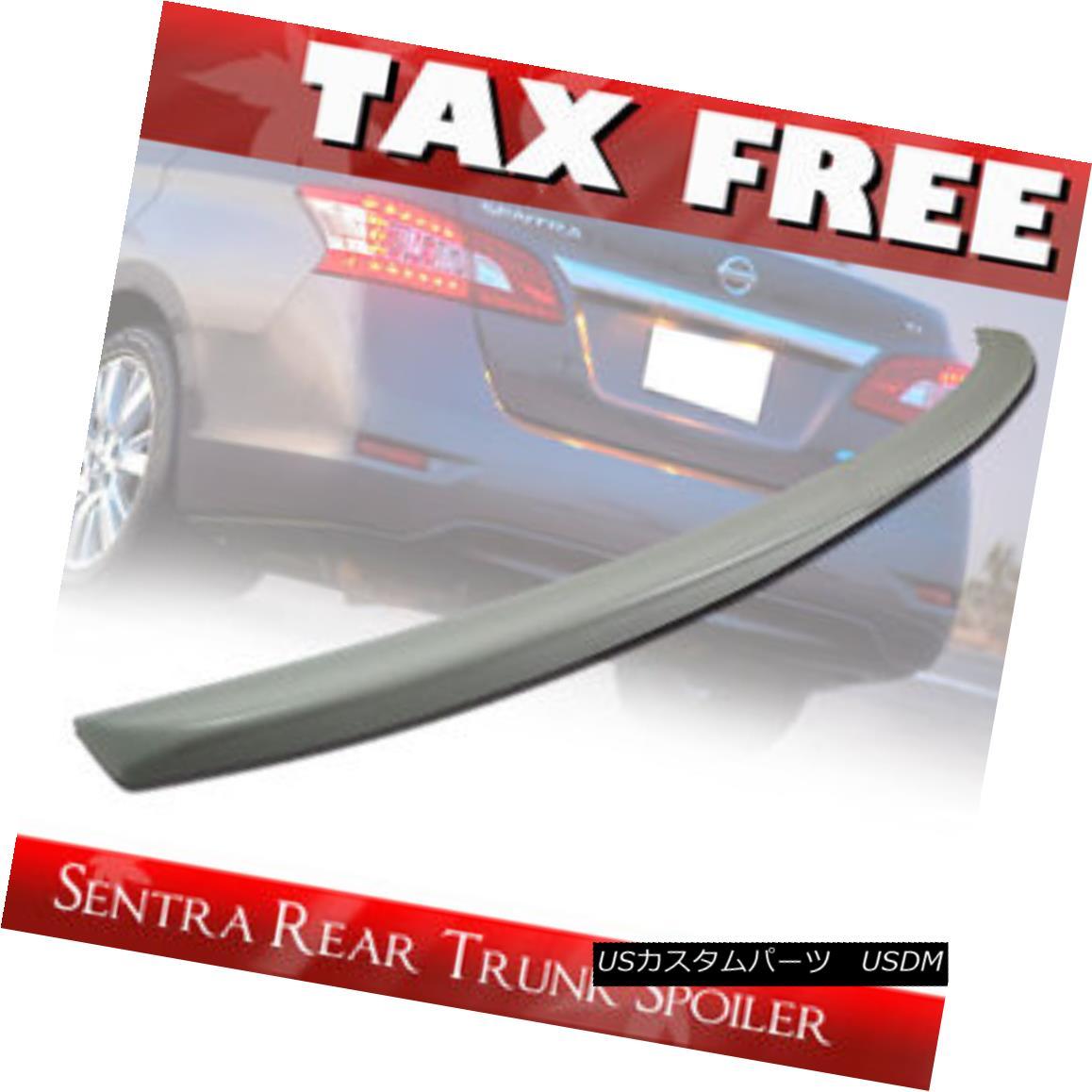 エアロパーツ Unpainted FOR Sentra B17 7th 4DR Sedan Rear ABS Trunk Spoiler 13-17 未塗装のSentra B17 7th 4DRセダンリアABSトランク・スポイラー13-17