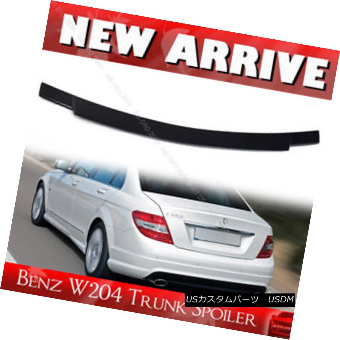 エアロパーツ Unpainted Mercedes BENZ C-Class W204 4DR Rear Trunk Spoiler § 未塗装メルセデスベンツCクラスW204 4DRリアトランク・スポイラー