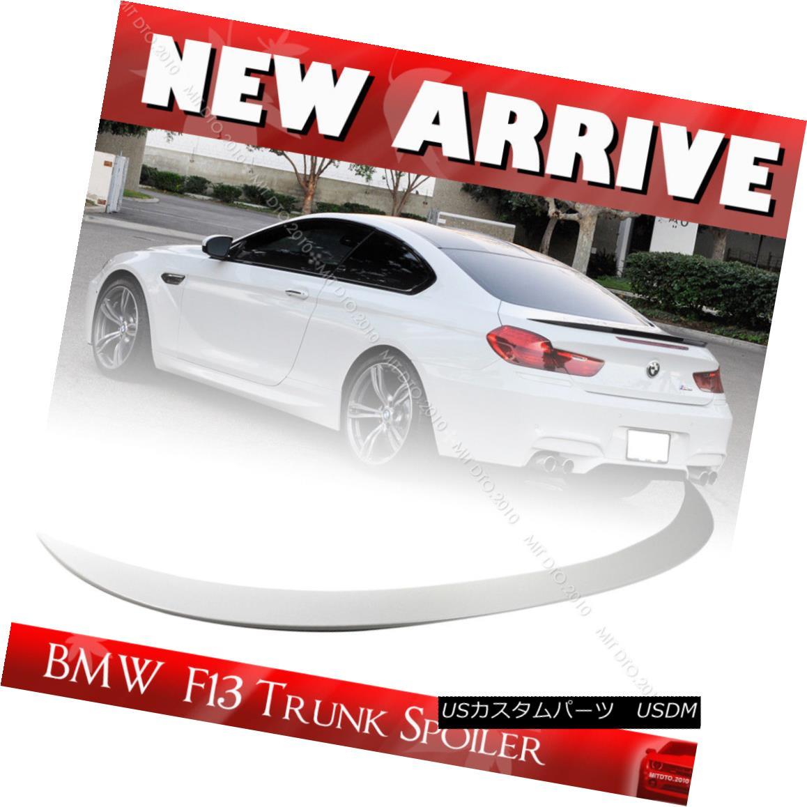 エアロパーツ 6-Serirs F13 Painted #300 White ABS For BMW 2D Coupe M6 Type Trunk Spoiler 650i 6シリーズF13ペイント#300ホワイトABS BMW 2Dクーペ用M6タイプトランク・スポイラー650i