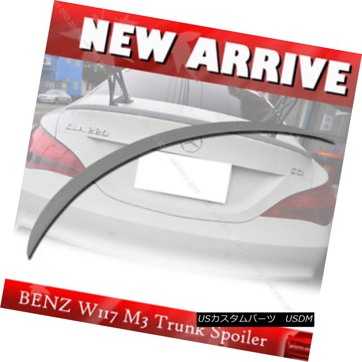 エアロパーツ Mercedes BENZ C117 W117 CLA-Class M3 CLA200 Sedan Rear Trunk Spoiler 14-16 § メルセデスベンツC117 W117 CLAクラスM3 CLA200セダンリアトランクスポイラー14-16