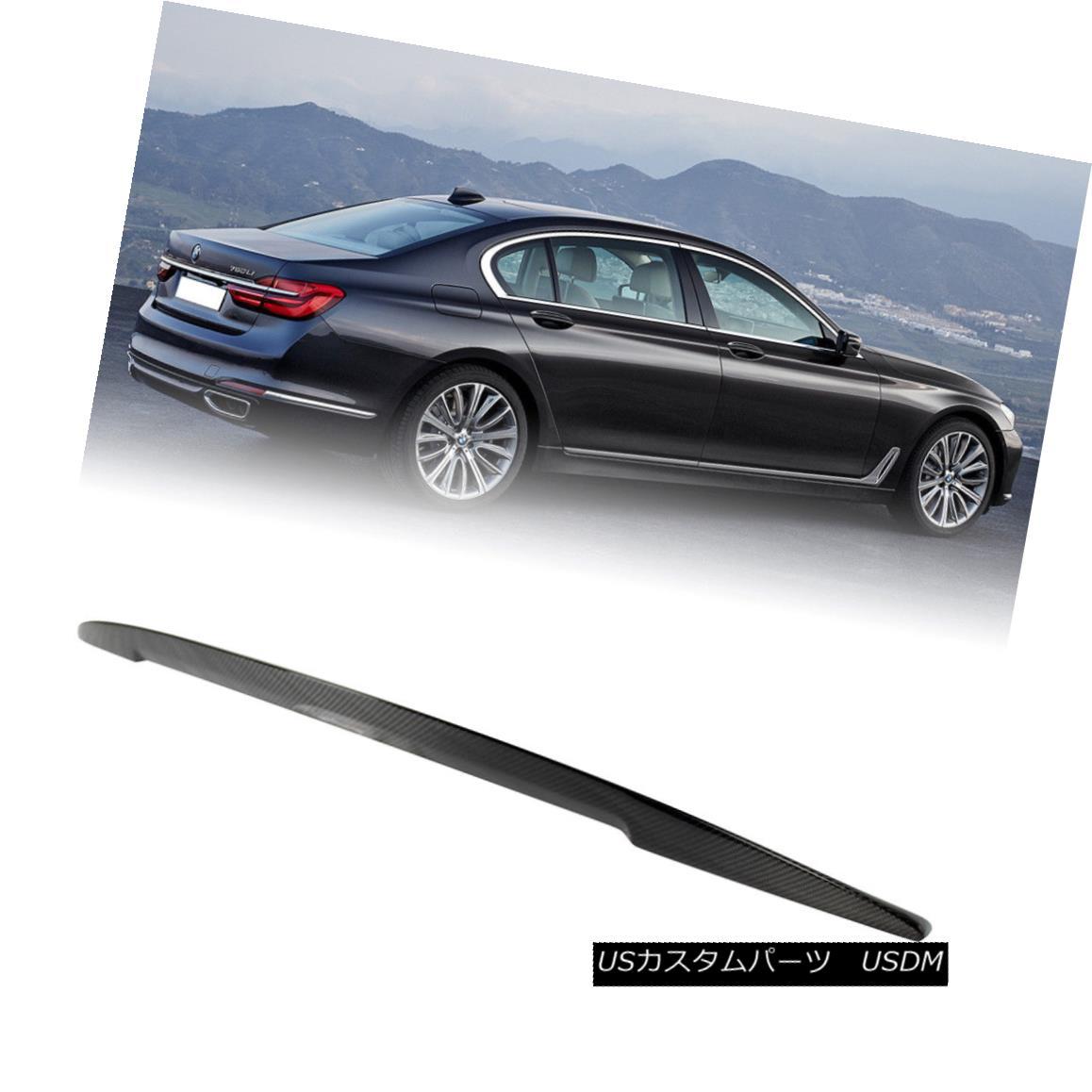 エアロパーツ For BMW 7 Series G11 Sedan Real Carbon Fiber P Rear Trunk Spoiler Wing 740i 2017 BMW 7シリーズG11セダンリアルカーボンファイバーPリアトランク・スポイラーウィング740i 2017