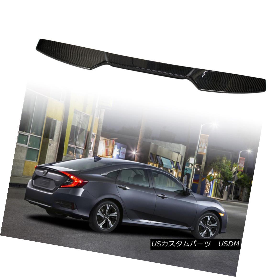 エアロパーツ Roof Spoiler Wing Real Carbon Fiber For Honda Civic 4 Door V Type 10th Sedan ホンダシビック4ドアV型10thセダン用ルーフスポイラーウイングリアルカーボンファイバー