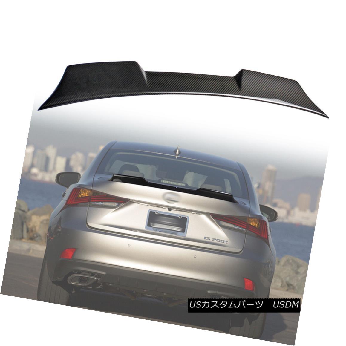 エアロパーツ V High Style Rear Trunk Spoiler Wing Real Carbon For LEXUS IS300 IS200t Sedan 18 VレクサスIS300 IS200tセダン18用ハイスタイルリアトランク・スポイラーウィング・リアルカーボン