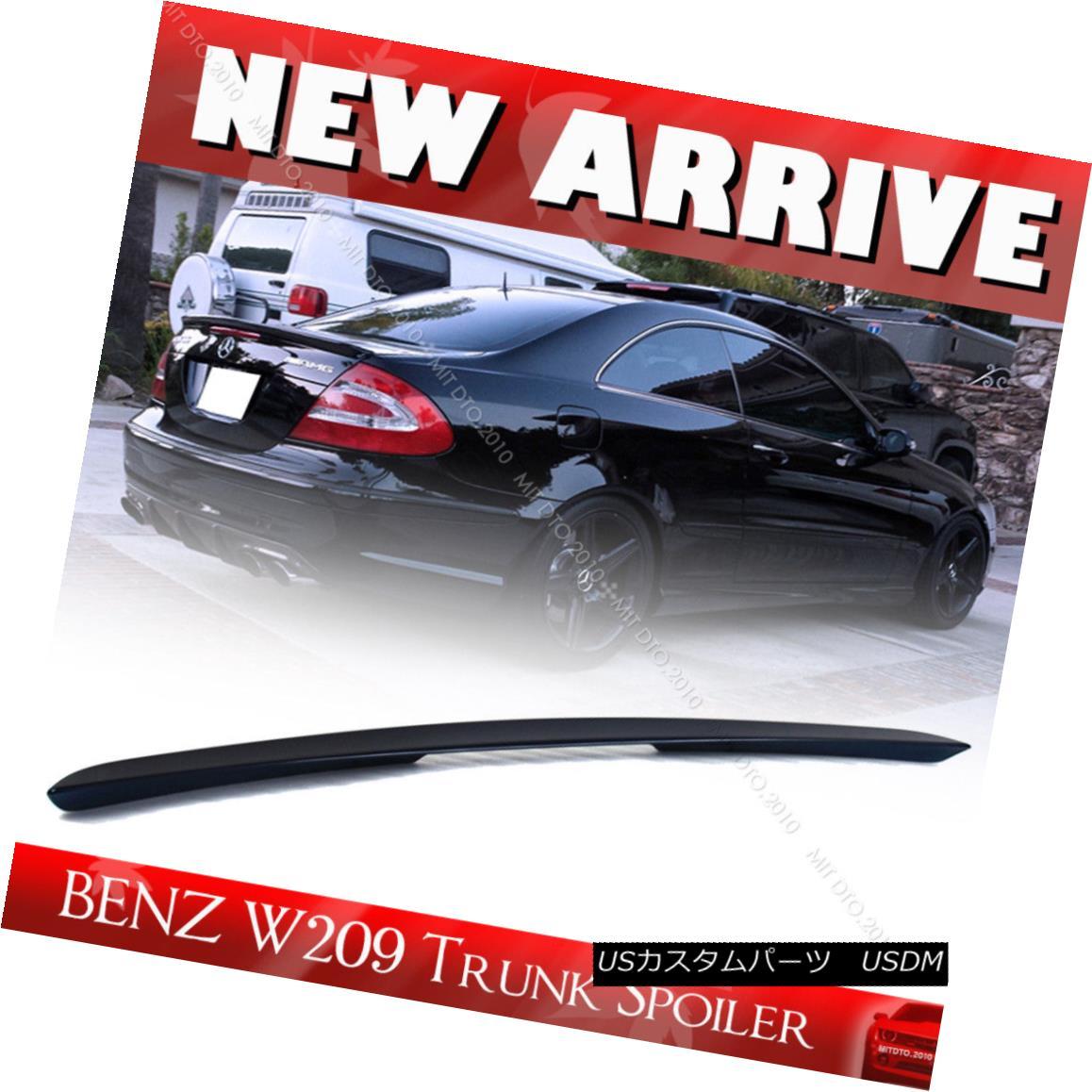 エアロパーツ Painted ABS #189 Mercedes W209 Coupe A Boot Trunk Spoiler CLK500 2008 ペイントABS#189メルセデスW209クーペブーツトランクスポイラーCLK500 2008