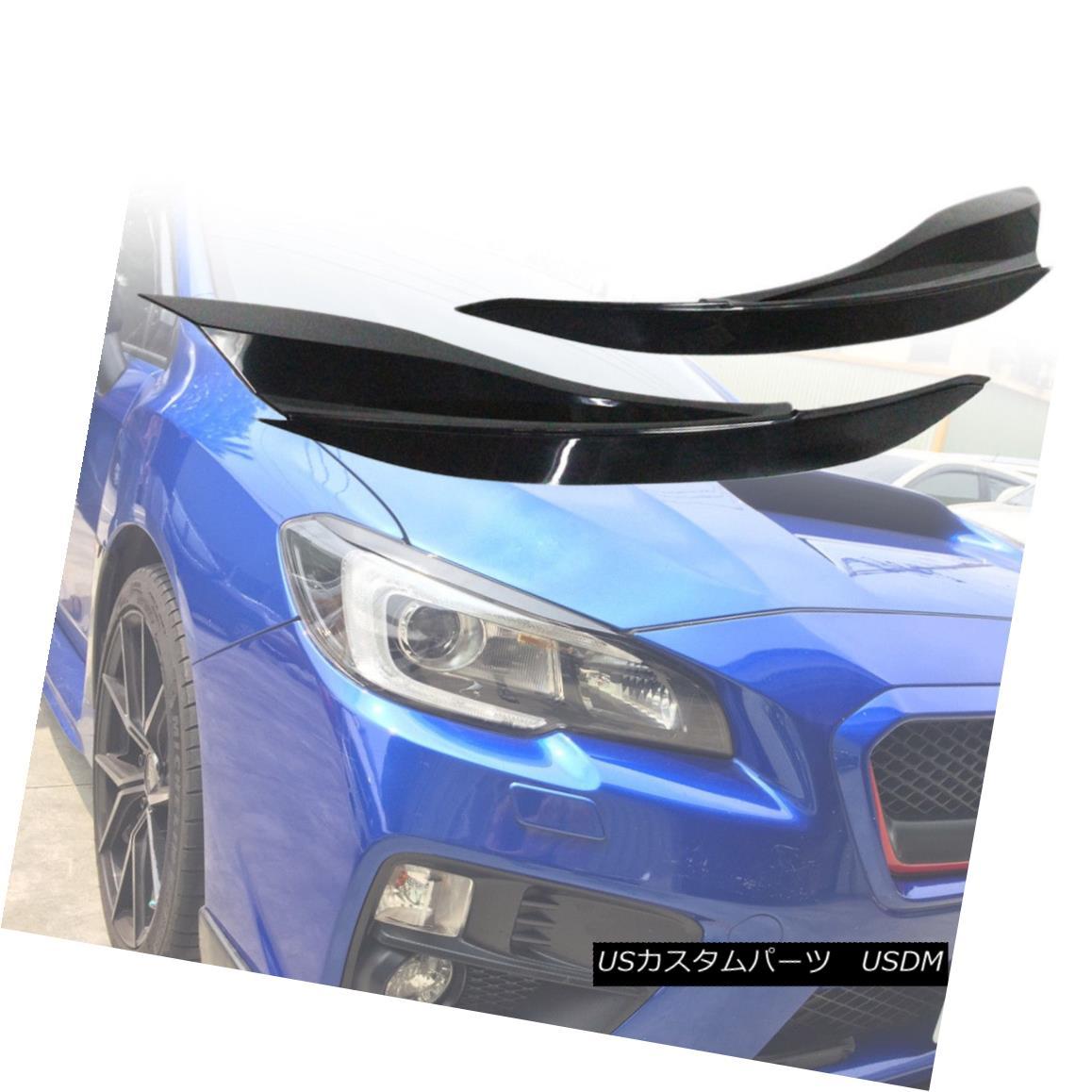 エアロパーツ Eyelids Eyebrow Headlight Cover Trim For Subaru WRX4 STI Sedan ABS Paint Color Subaru WRX4 STIセダンABSペイントカラーのためのまぶたの眉毛ヘッドライトカバートリム