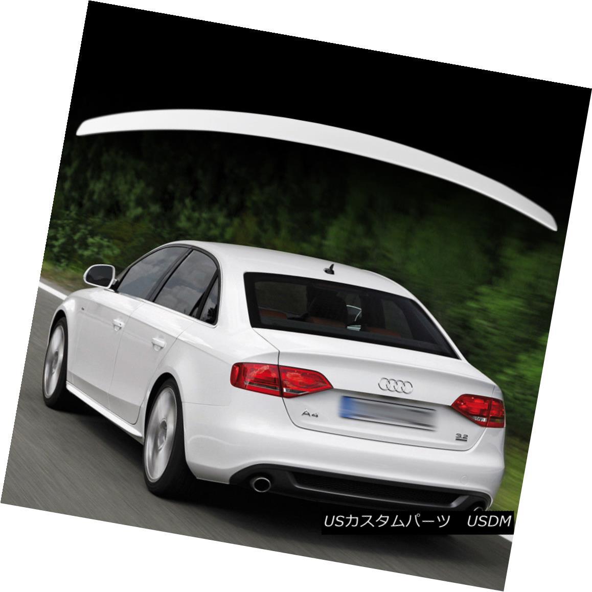 エアロパーツ For AUDI A4 B8 RS Style Rear Trunk Boot Spoiler Wing ABS Painted Color #LY9C AUDI A4 B8 RSスタイルリアトランクブーツスポイラーウイングABS塗装カラー#LY9C