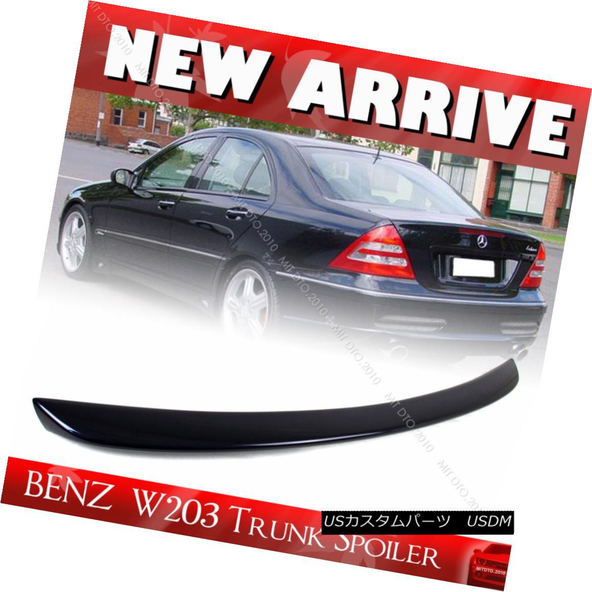 エアロパーツ Painted #359 Mercedes BENZ C-Class W203 4D Sedan A Trunk Spoiler ABS C230 C240 ペイント#359メルセデスベンツCクラスW203 4DセダンAトランクスポイラーABS C230 C240