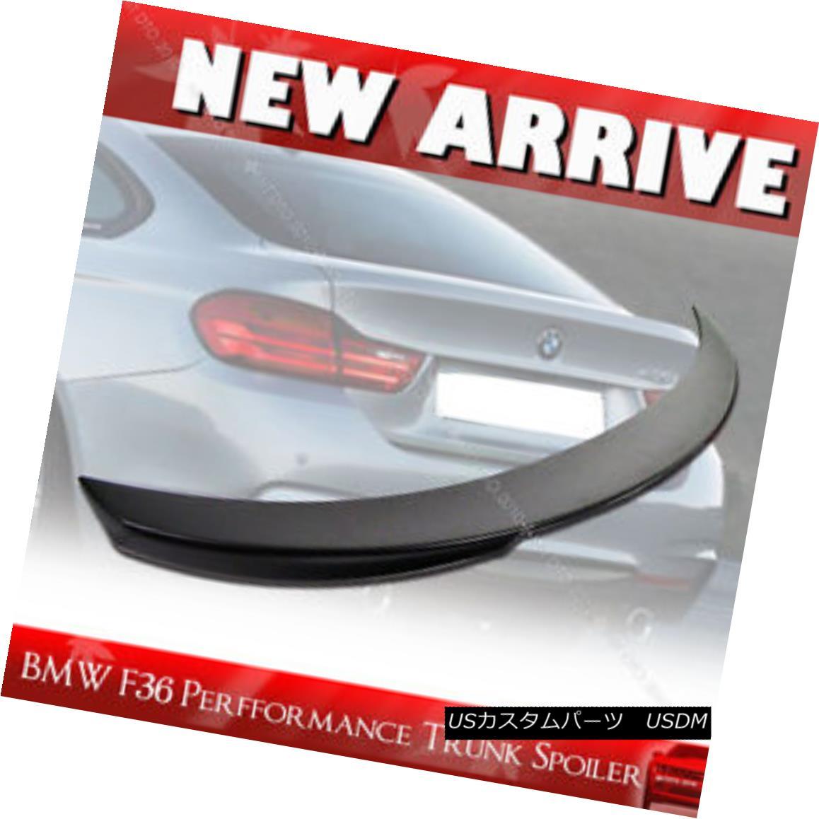 エアロパーツ Unpainted BMW F36 420i 428i Performance P Type Rear Boot Trunk Spoiler Wing 未塗装のBMW F36 420i 428iパフォーマンスPタイプリア・ブート・トランク・スポイラー・ウィング