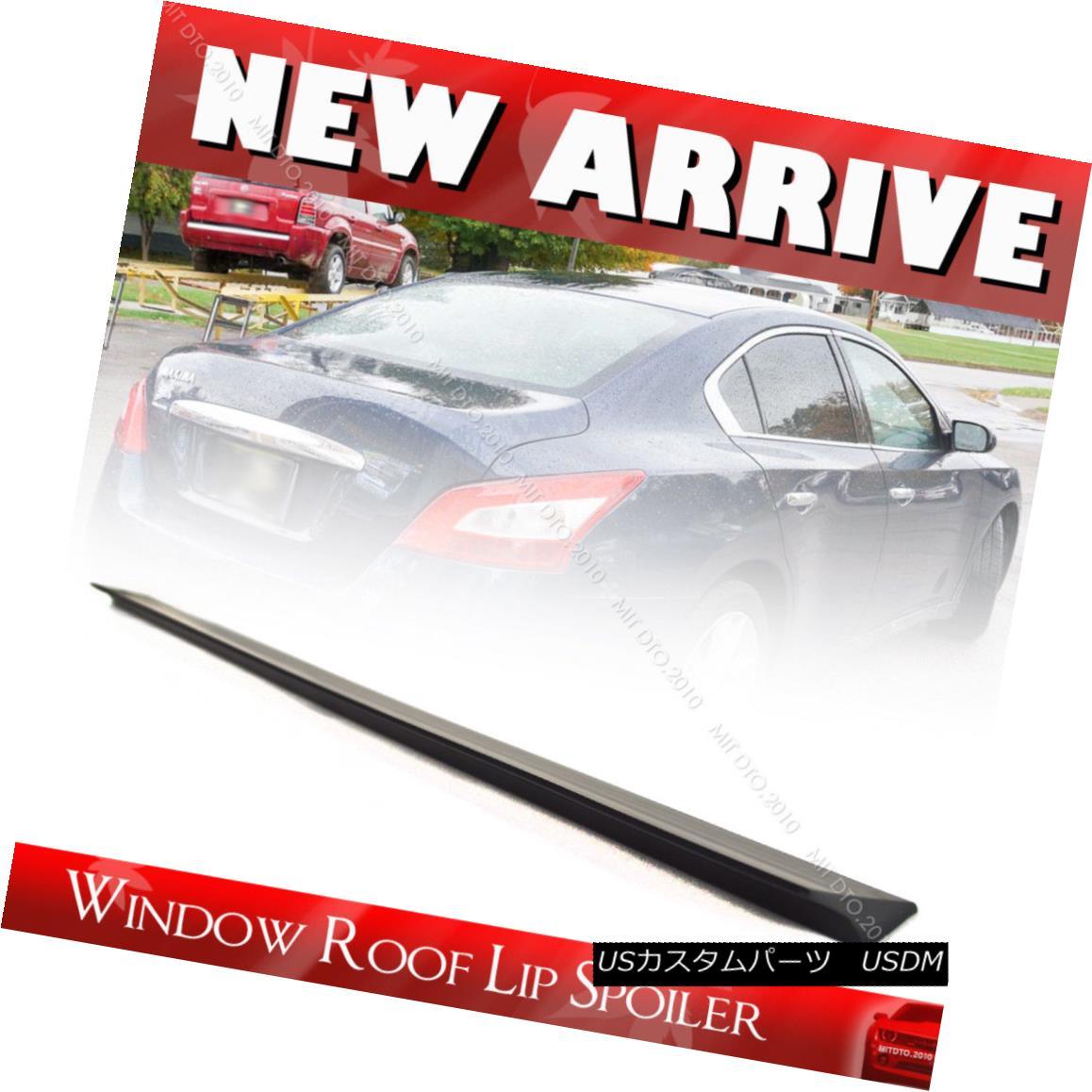 エアロパーツ Unpainted For Maxima A35 Sedan 4DR V Style Rear Roof Lip Spoiler 14 15 S マキシマA35セダン4DR Vスタイルリア・ルーフ・リップ・スポイラー14 15 S