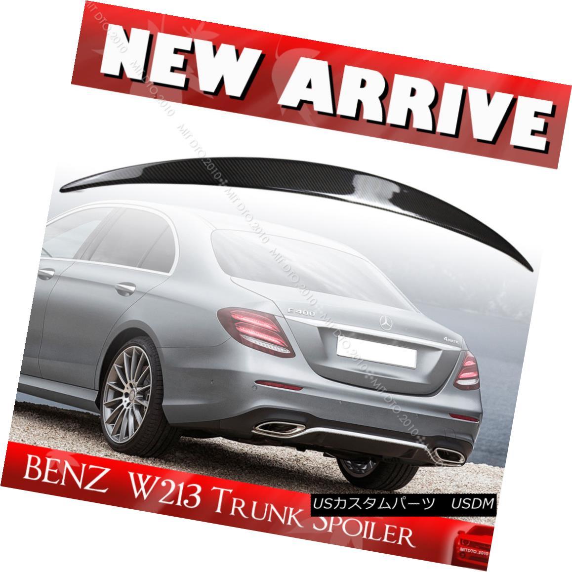 エアロパーツ Carbon OE Type Trunk Spoiler Mercedes BENZ E-Class W213 4D Sedan E400 E200 17-18 カーボンOEタイプのトランク・スポイラーメルセデス・ベンツEクラスW213 4DセダンE400 E200 17-18