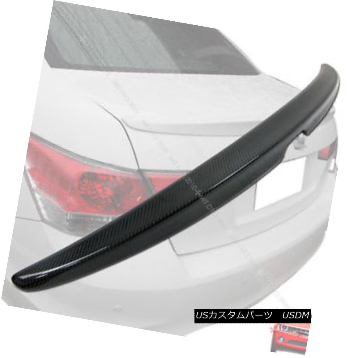 エアロパーツ ++Carbon Fiber For HONDA Accord 4DR OE Type Boot Trunk Spoiler Rear Wing 08 12 ++ホンダ用炭素繊維4DR OEタイプブーツトランクスポイラーリアウイング08 12