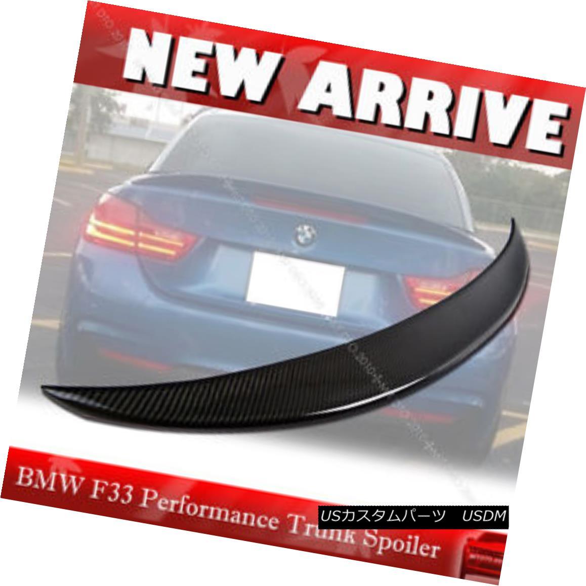 エアロパーツ Carbon Fiber BMW F33 4-Series Performance P Type Rear Boot Trunk Spoiler Wing § カーボンファイバーBMW F33 4シリーズパフォーマンスPタイプリアブーツトランクスポイラーウィング