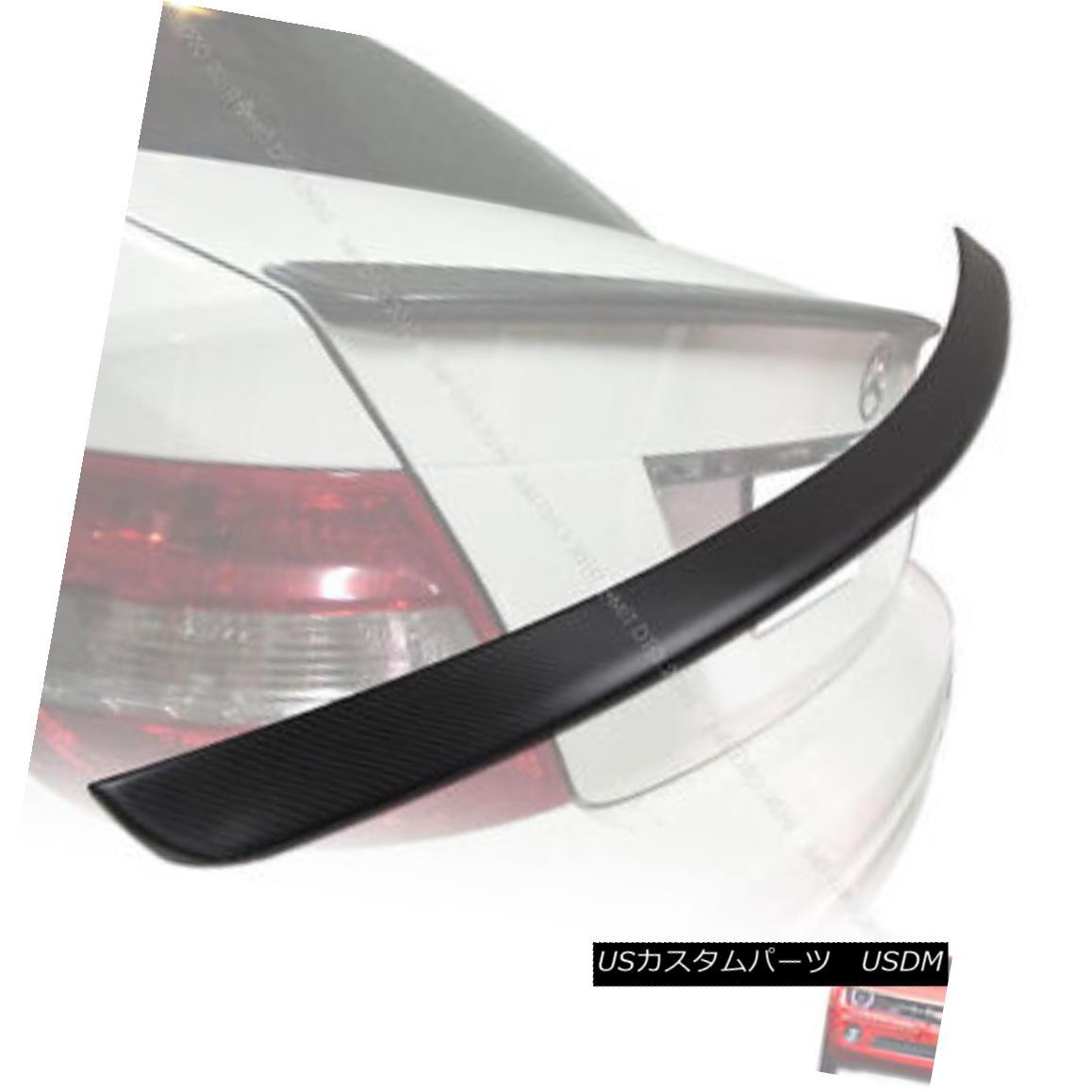 エアロパーツ Carbon Fiber Matte Black Mercedes BENZ W204 Sedan A Type Trunk Spoiler 08-13 § カーボンファイバーマットブラックメルセデスベンツW204セダンAタイプトランクスポイラー08-13