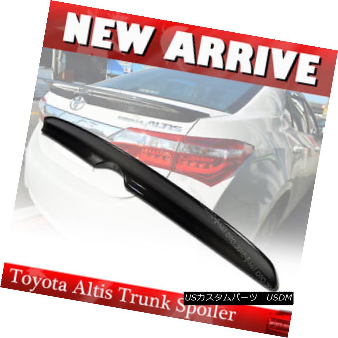 エアロパーツ For Toyota Altis Corolla 2014-2016 EUR 4DR Sedan Rear Trunk Spoiler Carbon Fiber トヨタAltis Corolla 2014-2016 EUR 4DRセダンリアトランクスポイラーカーボンファイバー