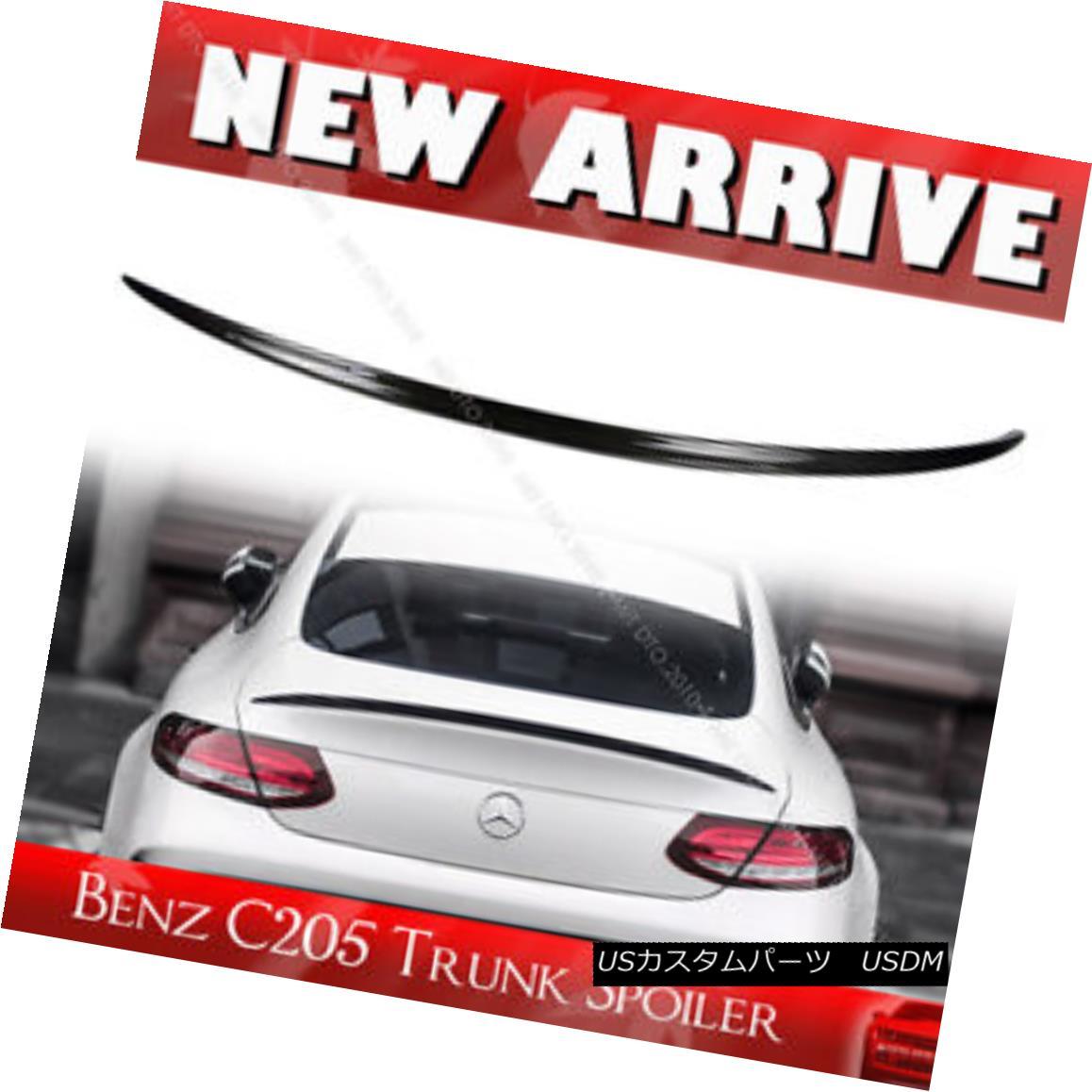 エアロパーツ Carbon Benz C Class C205 AM-Look Coupe Coup? Rear Trunk Spoiler Wing カーボン・ベンツCクラスC205 AMルック・クーペ・クーペリア・トランク・スポイラー・ウィング