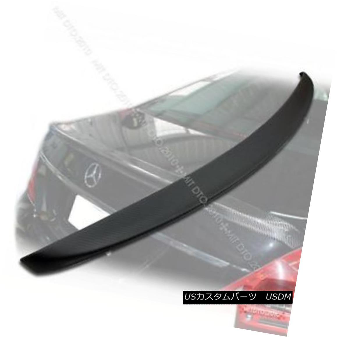 エアロパーツ Carbon Fiber Matte Black for Mercedes Benz W221 A-Type Trunk Spoiler § メルセデスベンツW221用カーボンファイバーマットブラックA型トランクスポイラー