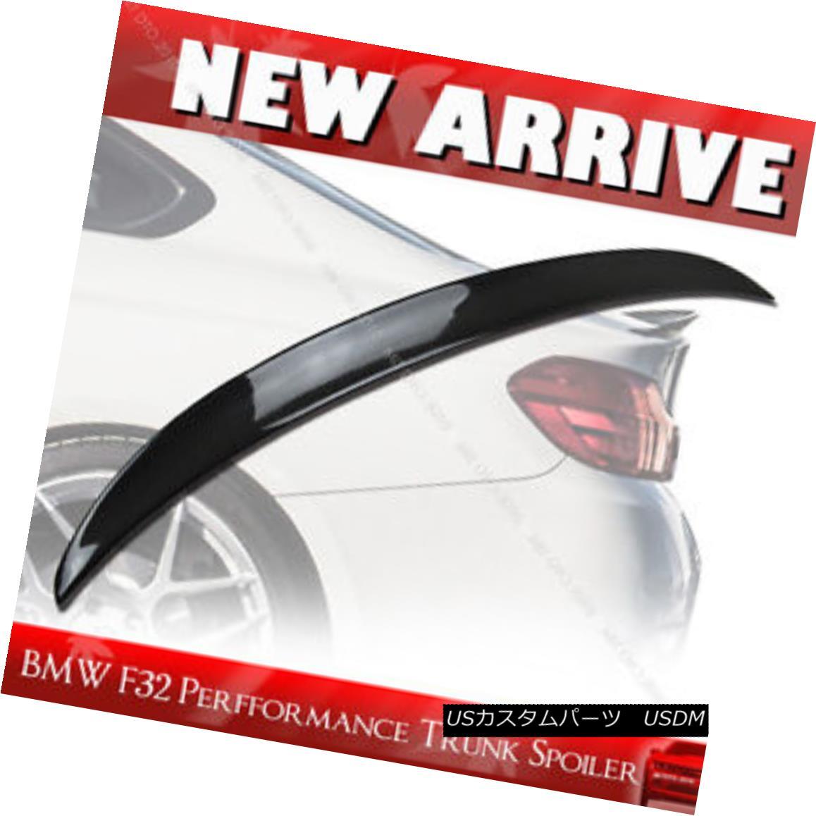 エアロパーツ Carbon Fiber BMW F32 420i 428i Performance P Type Rear Trunk Spoiler Wing+§ カーボンファイバーBMW F32 420i 428iパフォーマンスPタイプリアトランクスポイラーウイング+