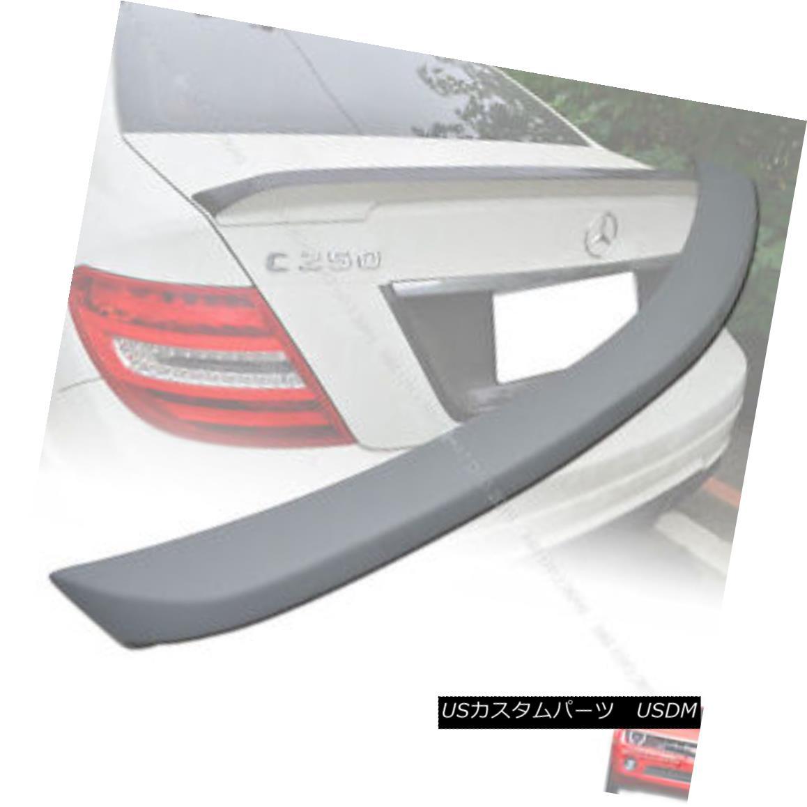 エアロパーツ Unpainted Mercedes BENZ W204 C-class Sedan DTO-Type Rear Trunk Spoiler 08-13 § 未塗装メルセデスベンツW204 CクラスセダンDTO型リアトランク・スポイラー08-13