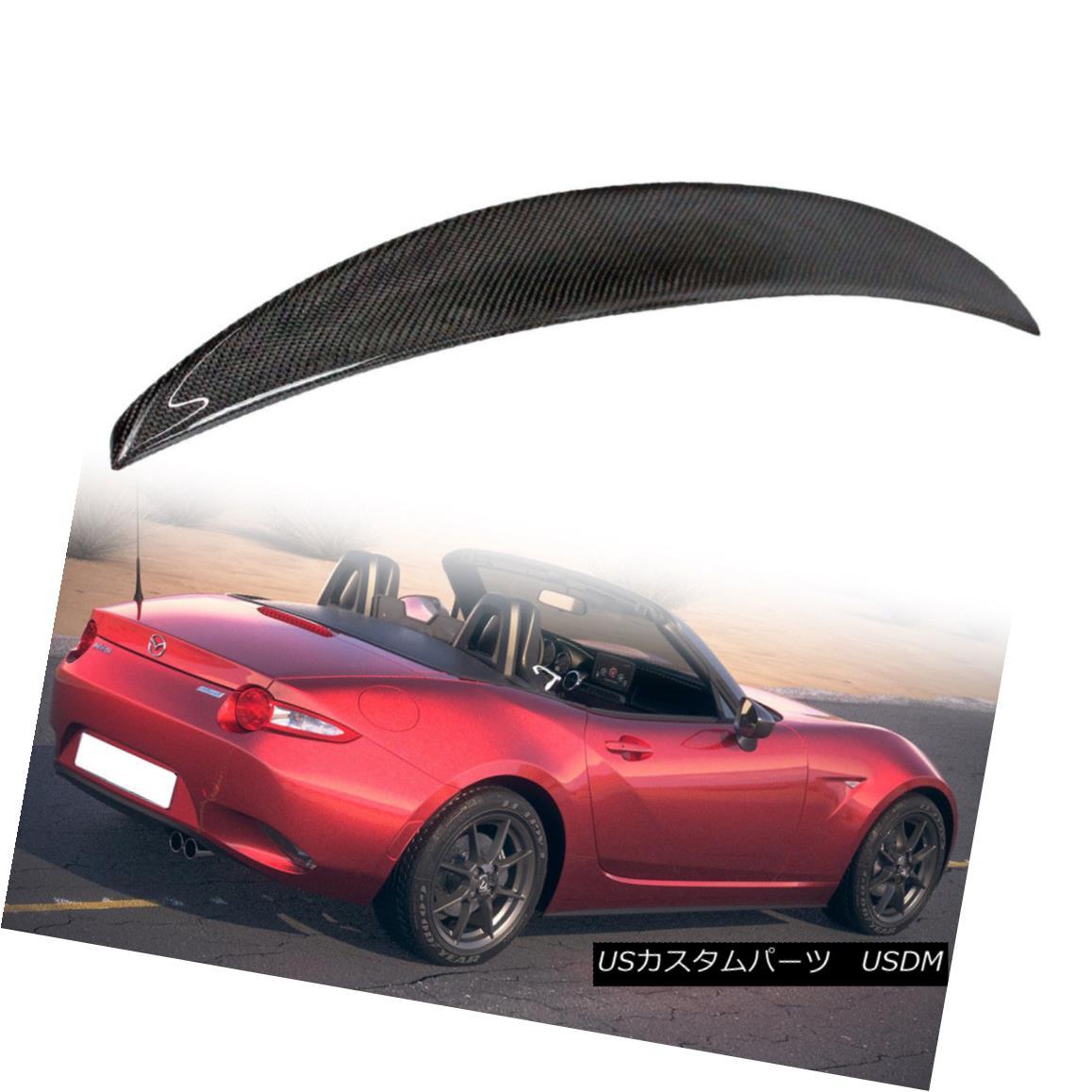 エアロパーツ Carbon Fiber For Mazda Miata MX5 Convertible Performance Rear Trunk Spoiler 2018 マツダMiata MX5コンバーチブルパフォーマンスリアトランク・スポイラー2018用炭素繊維
